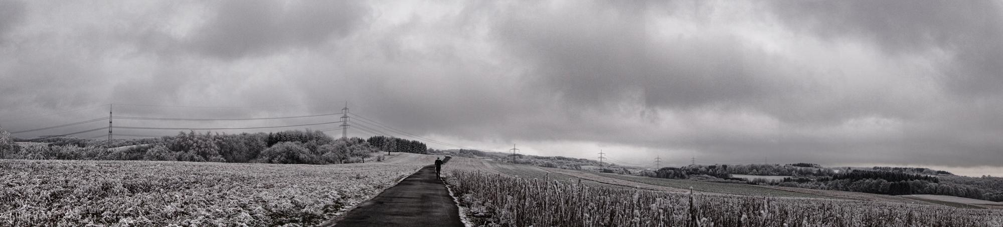 Winterlandschaft mit dem Crossrad